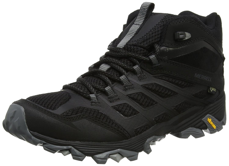 Schwarz(schwarze) Merrell Herren Moab FST Mid Gore-tex Trekking- & Wanderstiefel