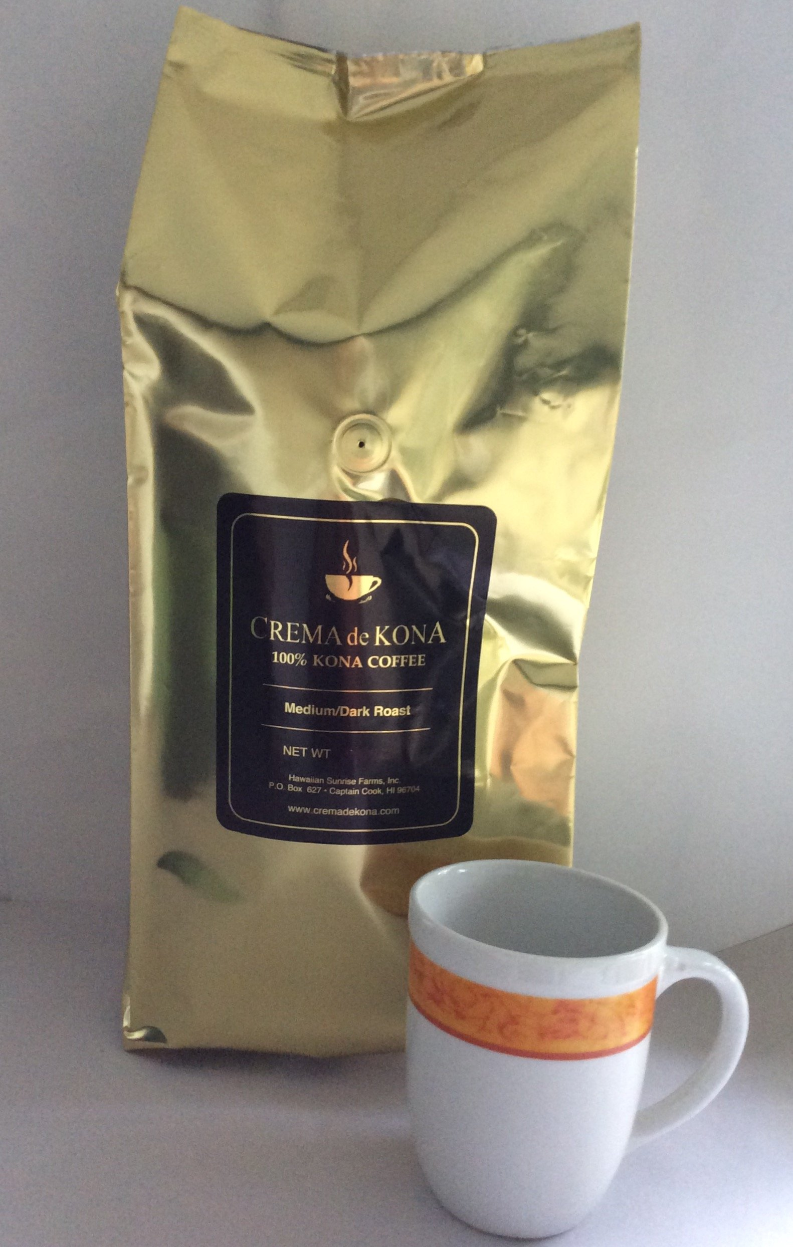 CREMA de KONA Roasted 100% Kona Coffee Beans (Medium Dark Roast, 5pound)