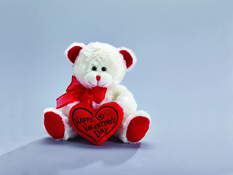 "14/"" Teddy Bear I LOVE U Heart Stuffed Plush w Hat White Red Valentine/'s Day NEW"