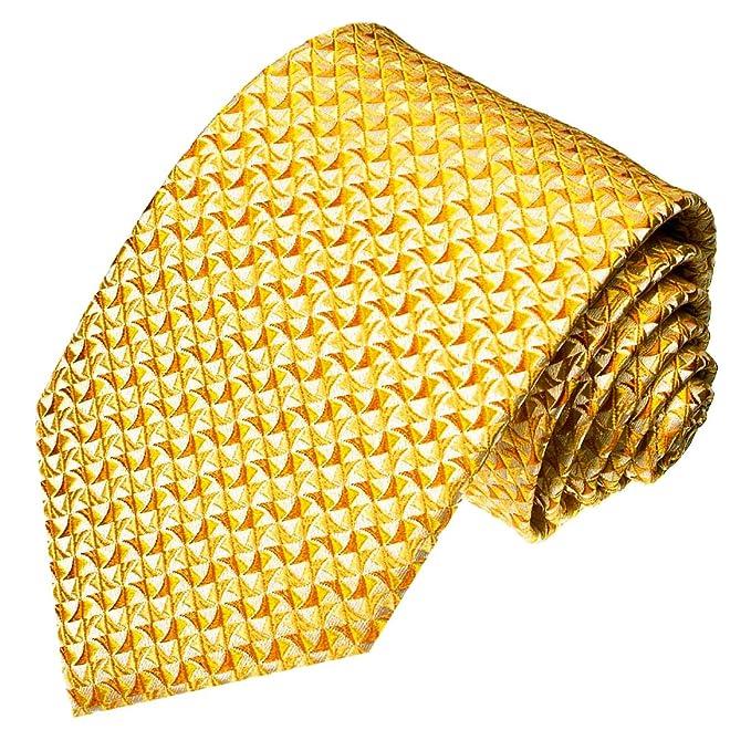 LORENZO CANA – Business corbata de lujo de 100% seda Oro Oro ...