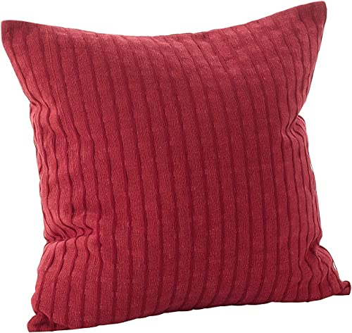 Fennco Styles Rorie Collection Classic Design Down Filled Cotton Throw Pillow – 2 Sizes 20 Square