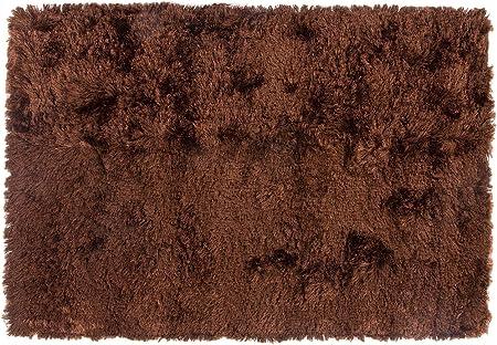 Alfombrista Shaggy Alfombra de Pelo Largo, Acrílico, Marrón, 50 x 80 cm: Amazon.es: Hogar