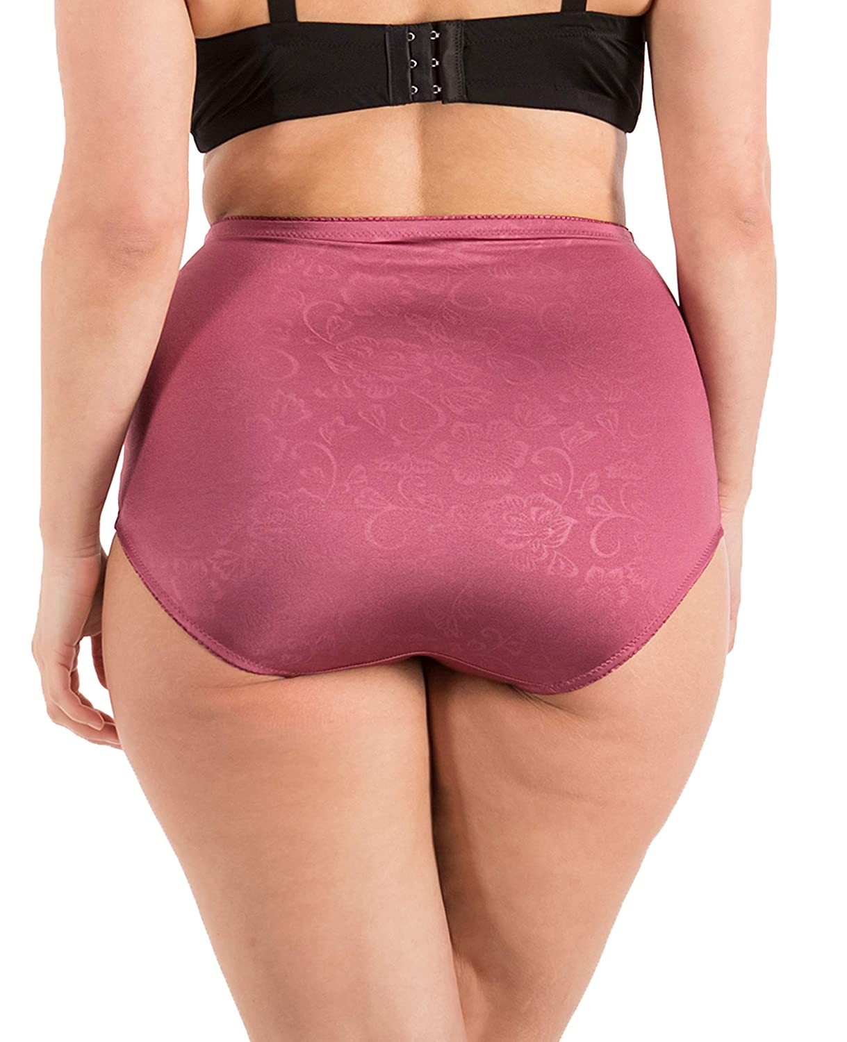 Barbras 6 Pack Womens High-Waist Tummy Control Girdle Panties