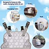 Hanging Nursery Organizer Diaper Stacker Ezy Diaper Storage Caddy for Changing Table, Wall or Playard- Baby Shower Gifts boy and Girl