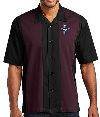 96a359983e85 Buy Cool Shirts Mens Ford Mustang GT Retro Camp Shirt at Amazon ...