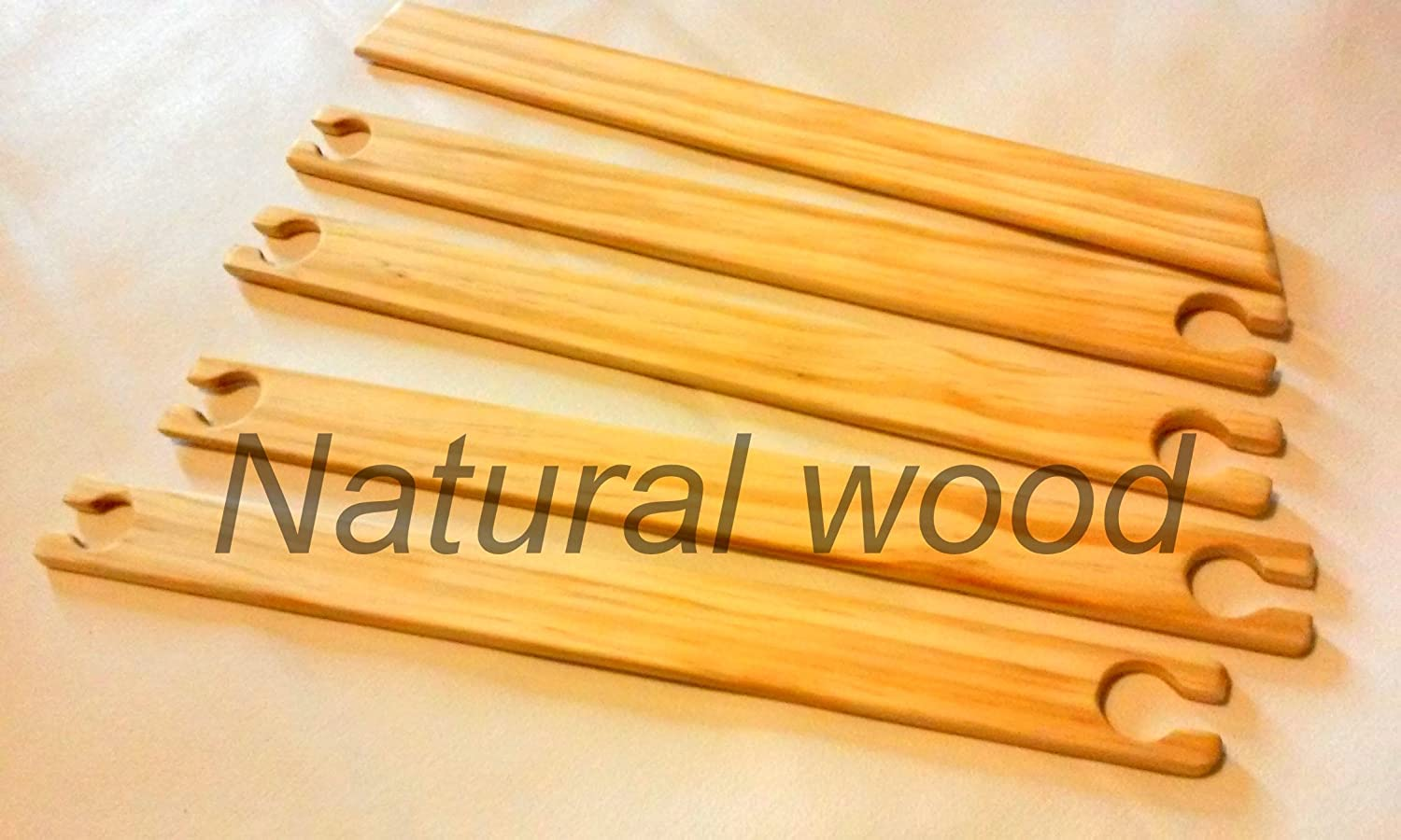 2 Pack 20 inch weaving stick shuttles with weaving needle.