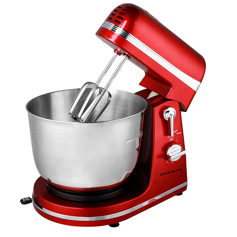 Amazon.com: Ovente 3.7 Quart 6 Speed Professional Stand Mixer, 300 Watt,  Metallic Red (SM880R): Kitchen U0026 Dining