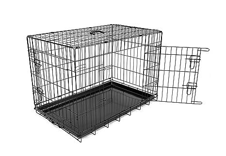 DUVO Jaula Metal Negra 2 Puertas 62x44x50 cm: Amazon.es: Productos ...