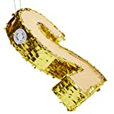 Juvale Small Number 2 Gold Foil Pinata, Second