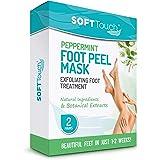 Peppermint Foot Peel Mask – 2 Pack of Peeling Booties – Foot Care Exfoliating Treatment Repairs Cracked Heels, Calluses & Rem