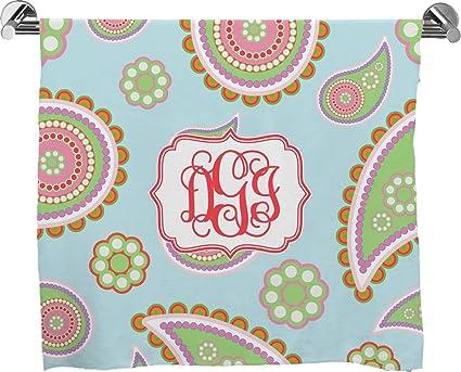 Azul Paisley Full impresión toalla de baño (personalizado)