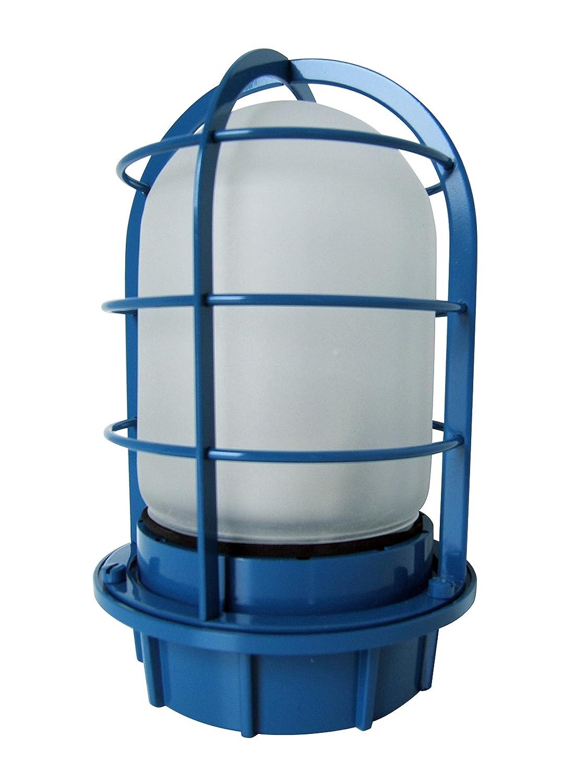 船舶用デッキライト マリンライト 青フロストガラス【ランプ付】 B01N3AJEKY