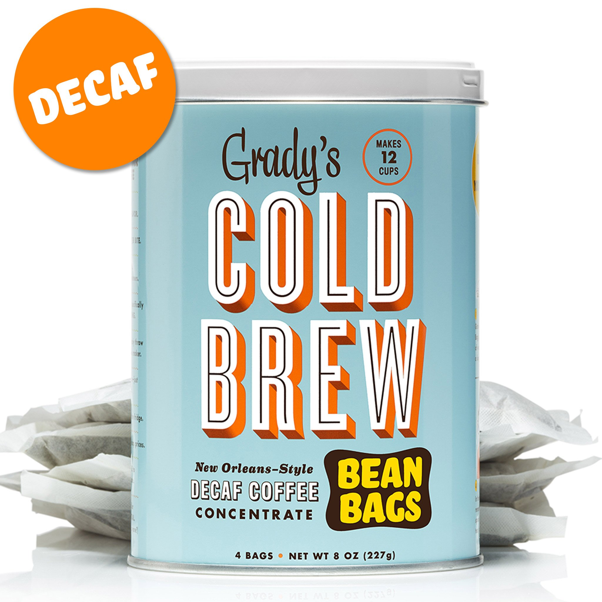 Grady's Cold Brew Iced Decaf Coffee Bean Bags (Decaf, 2 Can) by Grady's Cold Brew