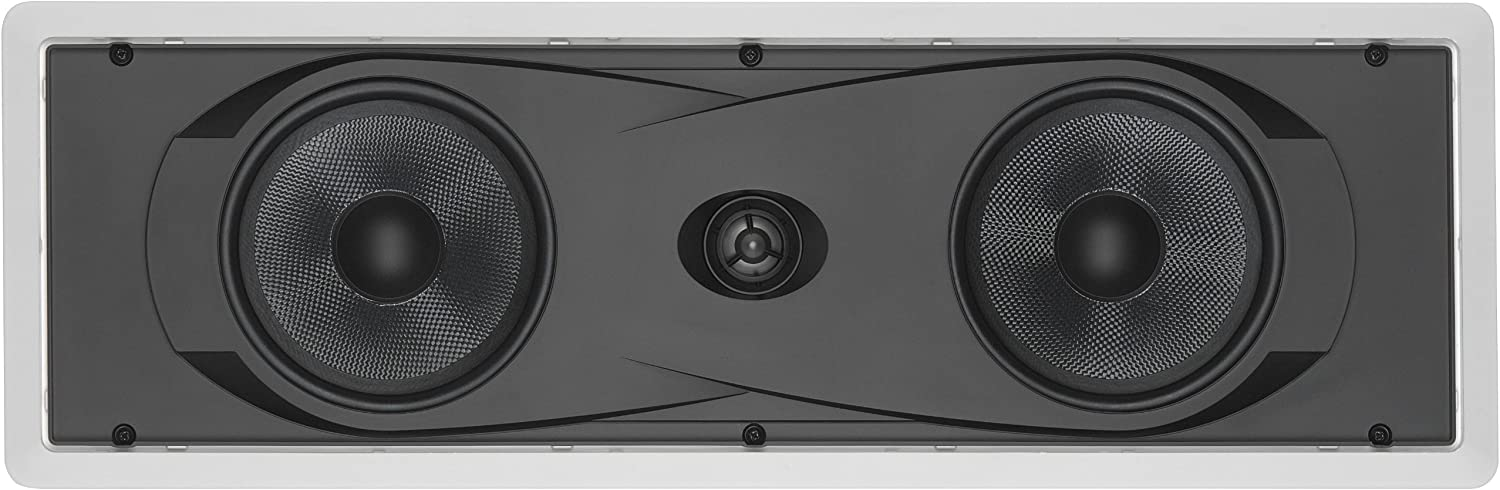 """Yamaha In-Wall 150 watts Natural Sound 2-Way Speaker with 1"""" Titanium Dome Swivel Tweeter & Dual 6-1/2"""" Kevlar Cone Woofers for Enhanced Center Channel, Plasma LCD Big Screen TV or any Home Theater System"""
