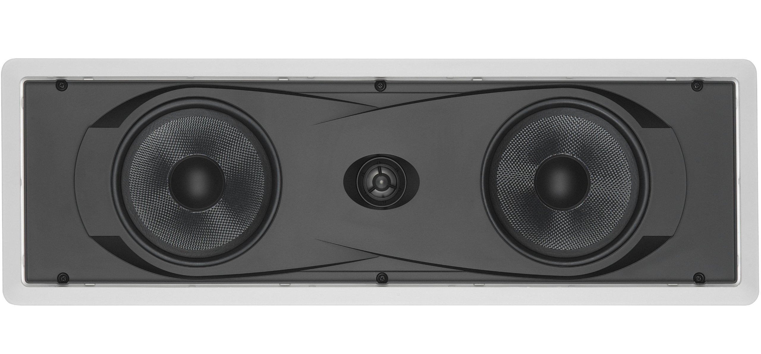 Yamaha In-Wall 150 watts Natural Sound 2-Way Speaker with 1'' Titanium Dome Swivel Tweeter & Dual 6-1/2'' Kevlar Cone Woofers for Enhanced Center Channel, Plasma LCD Big Screen TV or any Home Theater System by Yamaha