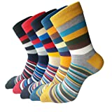 Amazon Price History for:Pack of 5 Mens Fashionable Colorful Pattern Design Soft Cotton Socks (Size 5-10)