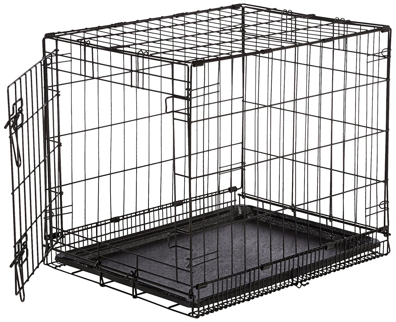 AmazonBasics Single Door Folding Metal Dog Crate (Small, 24x19x18 inch)