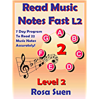Read Music Notes Fast Level 2: Read 22 Music Notes Accurately in 7 Days: Music Theory book cover
