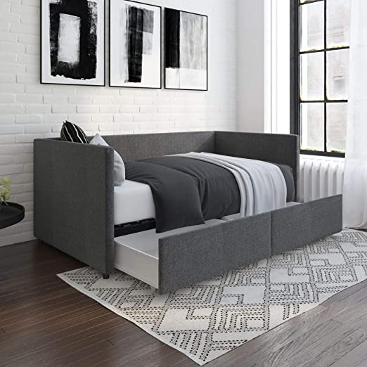 Amazon Com Dhp Theo Urban Daybed With Storage Drawers Small
