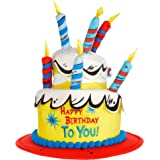 97bfeac9df4de9 Costumes USA Deluxe Dr. Seuss Birthday Cake Hat for Adults, Birthday Costume  Accessory,