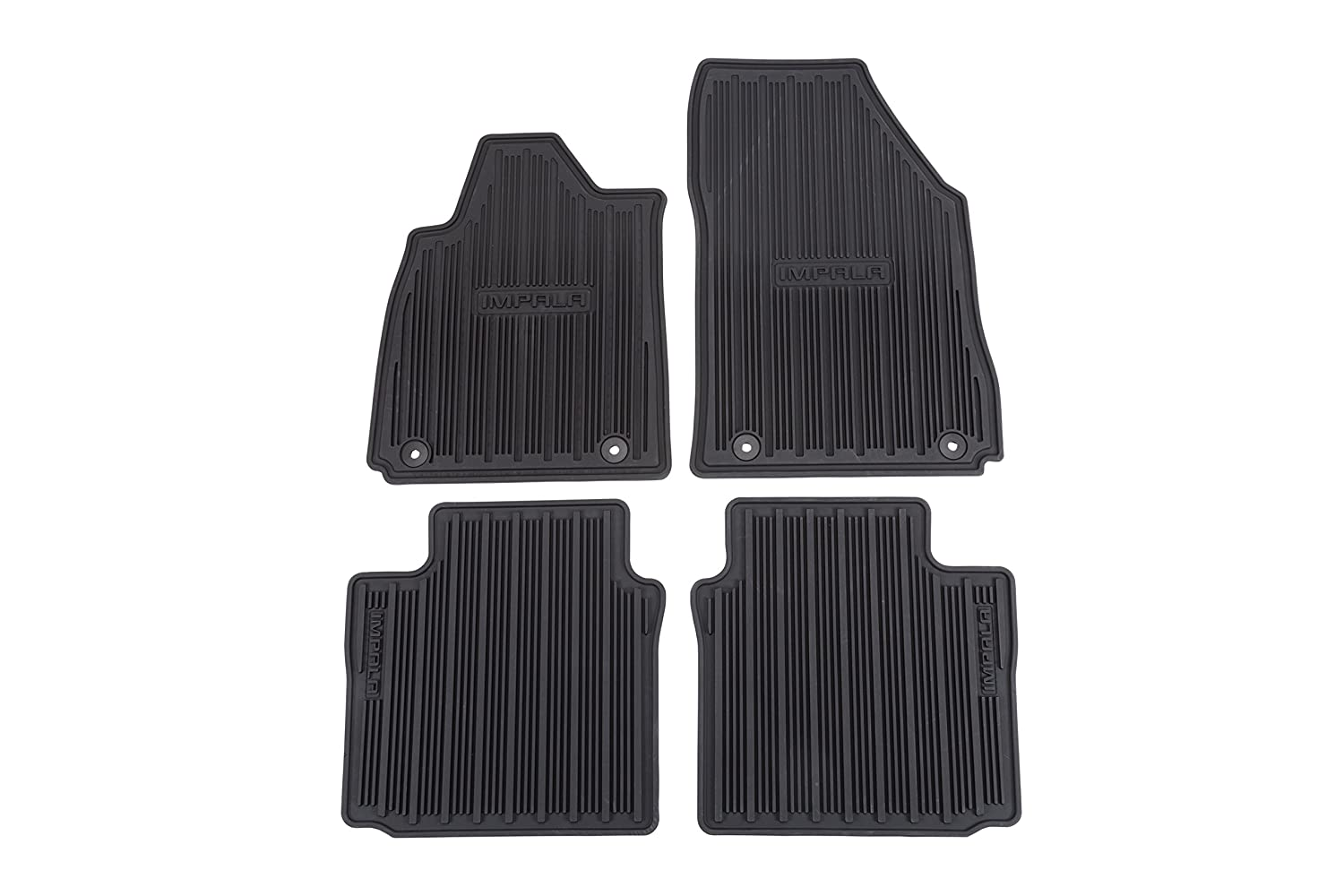GM Accessories 22766717 Front and Rear All-Weather Floor Mats in Black with Camaro Logo General Motors