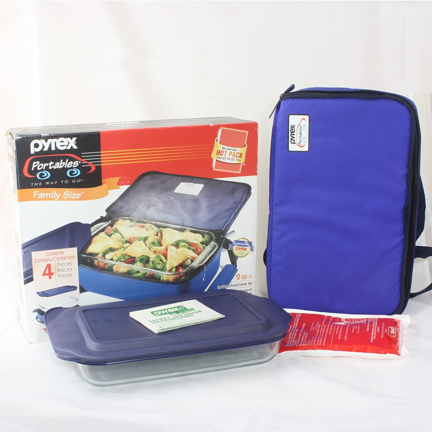 PYREX PORTABLES INSULATED FOOD CARRIER SET Corning 6021731