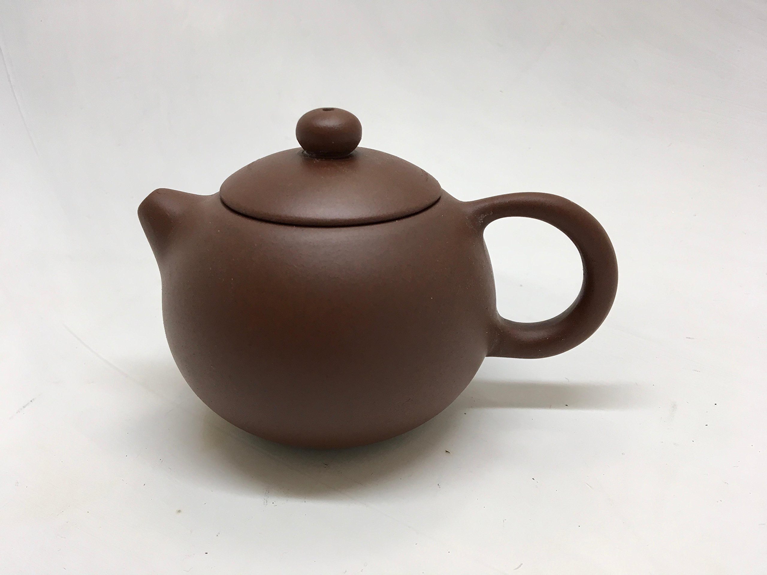 Yixing Tea Pot with 6oz Capacity Highly Recommended (Brown 6oz #4) by Music City Tea