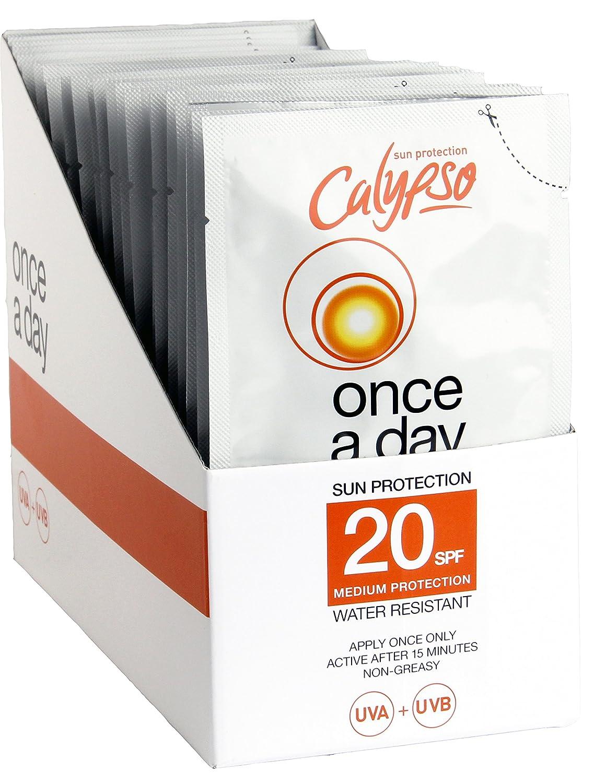 Calypso SPF20 une fois par jour Sachet de protection solaire 40ml (24 Paquets)