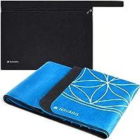 Navaris opvouwbare yogamat voor op reis - 1,5 mm dikke yoga mat voor yoga, pilates, training en fitness - Met antislip…