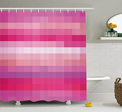 Ambesonne Hot Pink Shower Curtain Abstract Art With Modern Expressionist Design Vibrant Tones