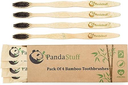 Panda Stuff - Cepillo de Dientes de bambú orgánico – Cepillo ...