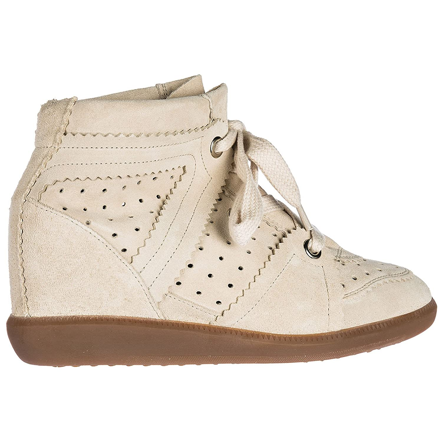 9df1aad214 Isabel Marant Women's Shoes High Top Suede Trainers Sneakers Bobby Pink UK  Size 2 BK00032 00M102S: Amazon.co.uk: Shoes & Bags