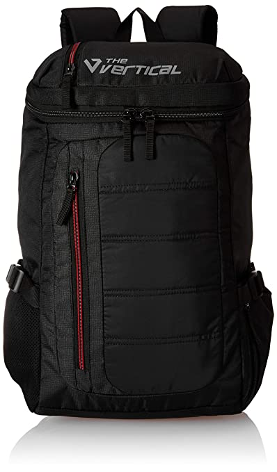 The Vertical Vitality Polyester 25 Ltrs Black School Backpack  8903496091137