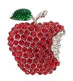 "Artisan Owl Apple Teacher Brooch Pin 1.50"" with"