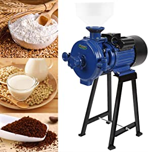 BEAMNOVA 1500W Grain Mill Molino de Maiz Electric Dry Wet Food Grinder for Tacos Corn Flour Rice Nut Commercial Industrial Grinding Machine (Blue)