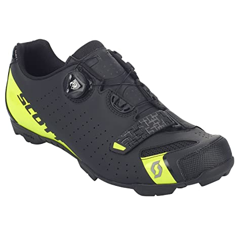 SCOTT MTB Comp Boa Zapatillas de ciclismo, negro y amarillo, 2018, matt black/sulphur yellow, 48: Amazon.es: Deportes y aire libre