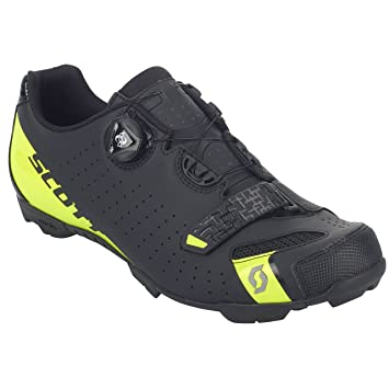 SCOTT MTB Comp Boa Zapatillas de ciclismo, negro y amarillo, 2018, matt black/sulphur yellow, 48: Amazon.es: Deportes y aire libre