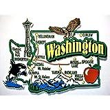 Washington Jumbo State Map Fridge Magnet