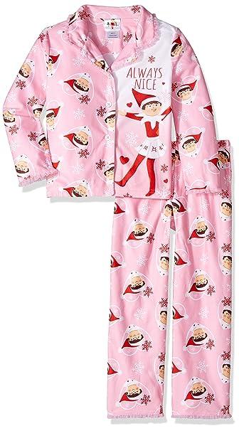 97e4494114 Amazon.com  Elf on The Shelf Girls  Little 2-Piece Pajama Coat Set ...