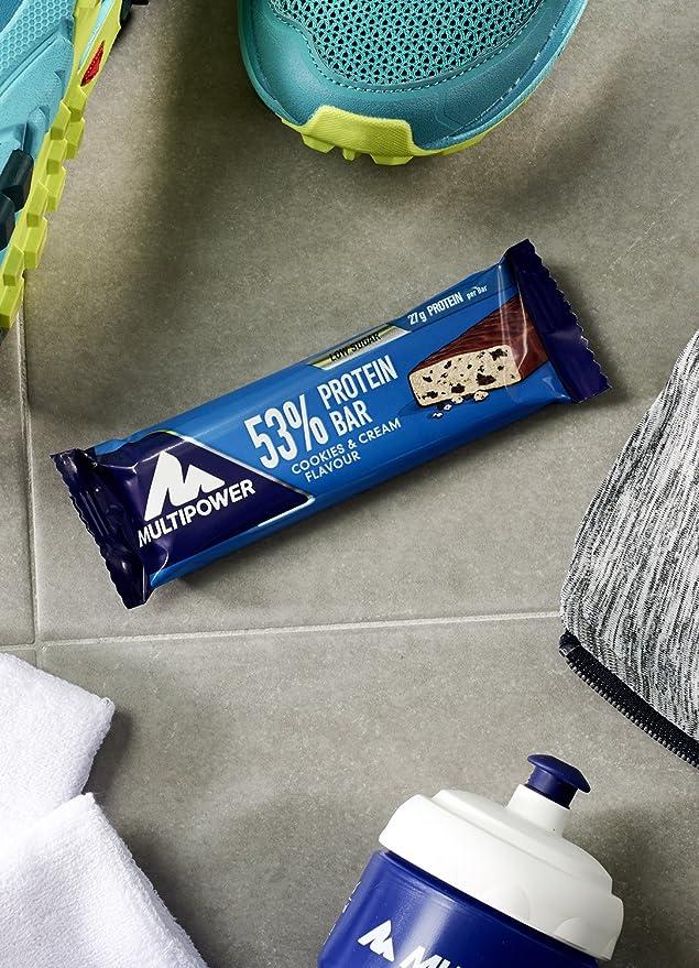 Multipower 53% Protein Bar, Sabor Cookies & Cream - 24 Barras