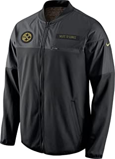 80450f2f7 Nike Pittsburgh Steelers Salute to Service Hybrid Performance Men s NFL  Jacket (Medium) Black