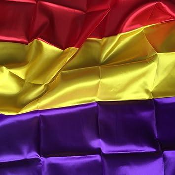 Durabol Bandera de la Republica Española 150*90 cm Spain Flag+Regalo una pegatina: Amazon.es: Hogar