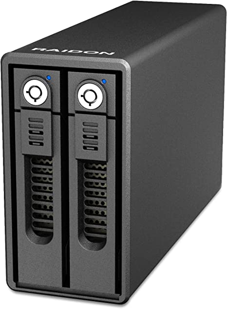 Raidon gr3660 de TB2 Caja Raid para 2 x 3,5 Pulgadas o 2 x 2,5 ...