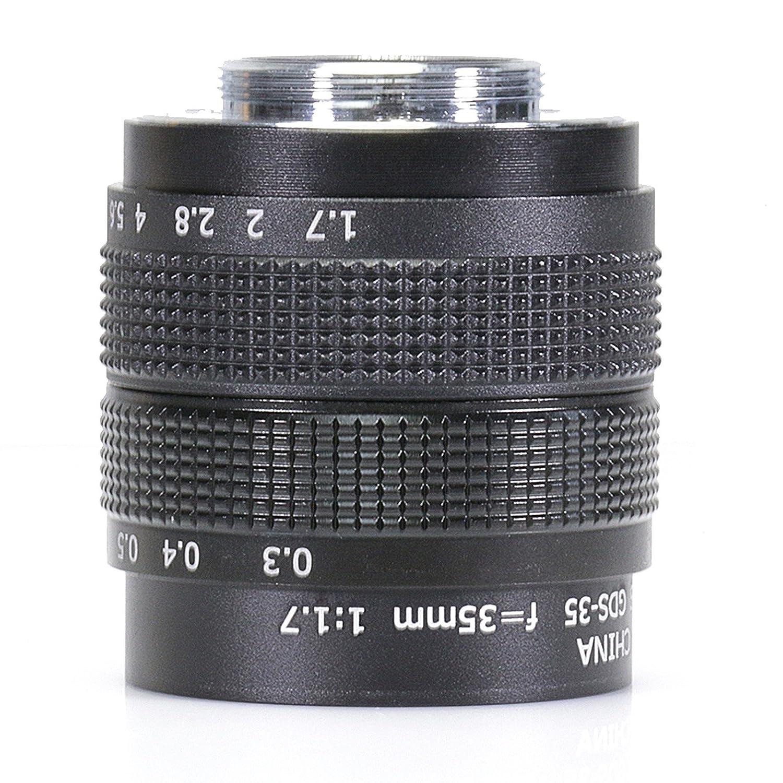 35 mm f1.7テレビテレビレンズ/ CCTVレンズfor 16 mm Cマウントカメラ C mount Lens  B077PN237J