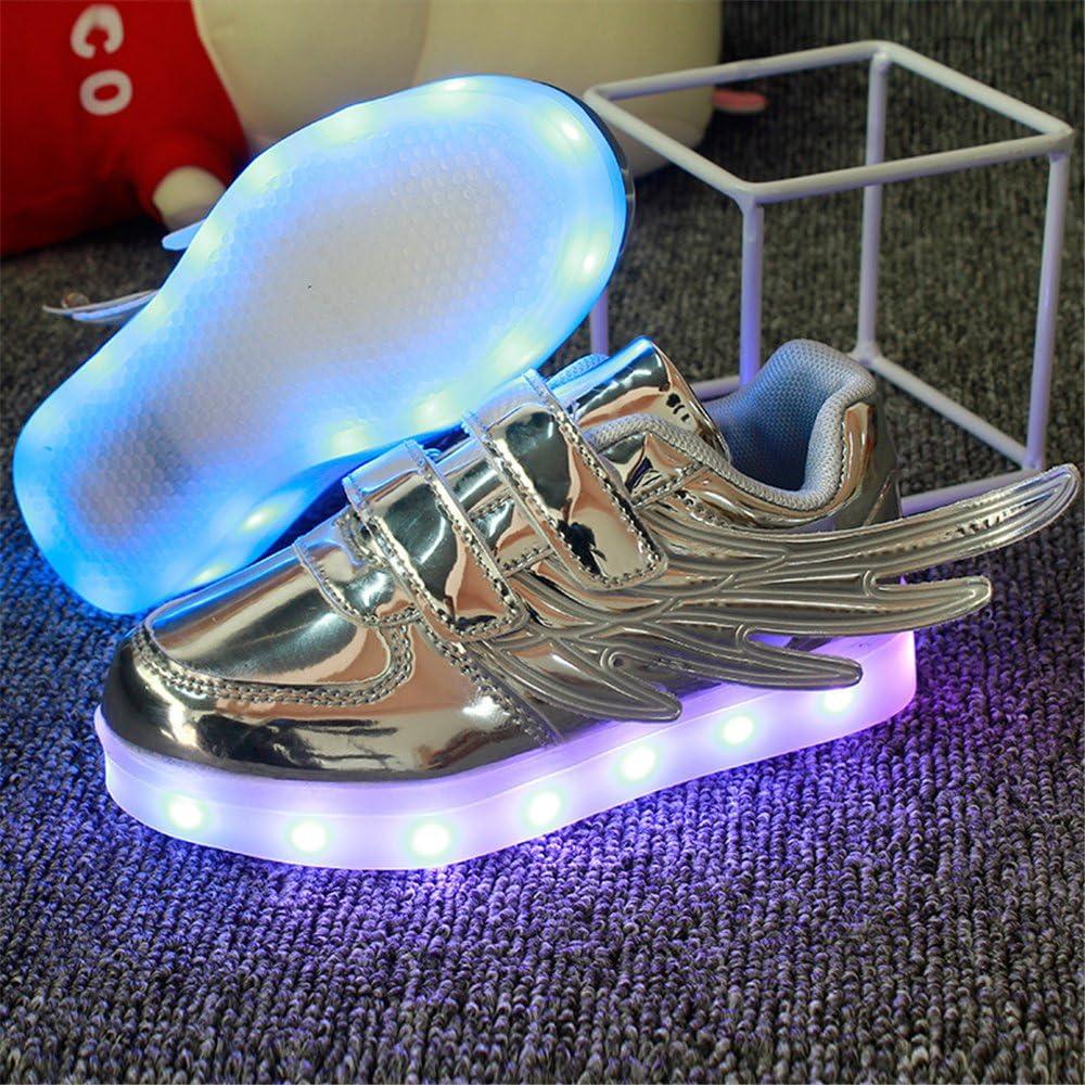chen yasheng LED Light Up Shoes USB Charging Flashing Sneakers for Kids Boys Girls