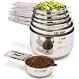Simply Gourmet Stainless Steel Measuring Cups - Measuring Cup Set for Cooking & Baking, Set of 7.