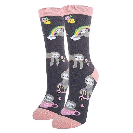 Womens Girls Novelty Crazy Animal Cute Funny Corgi Chicken Cotton Crew Socks