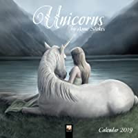 Unicorns by Anne Stokes Wall Calendar 2019 (Art Calendar) (Square)