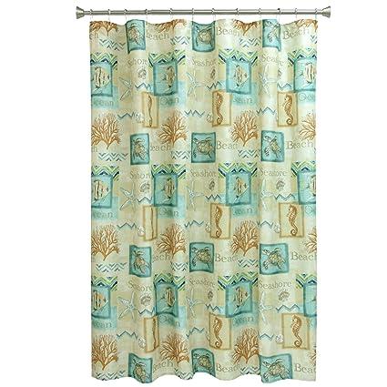 Bacova Guild 10744 Chevron Beach Shower Curtain