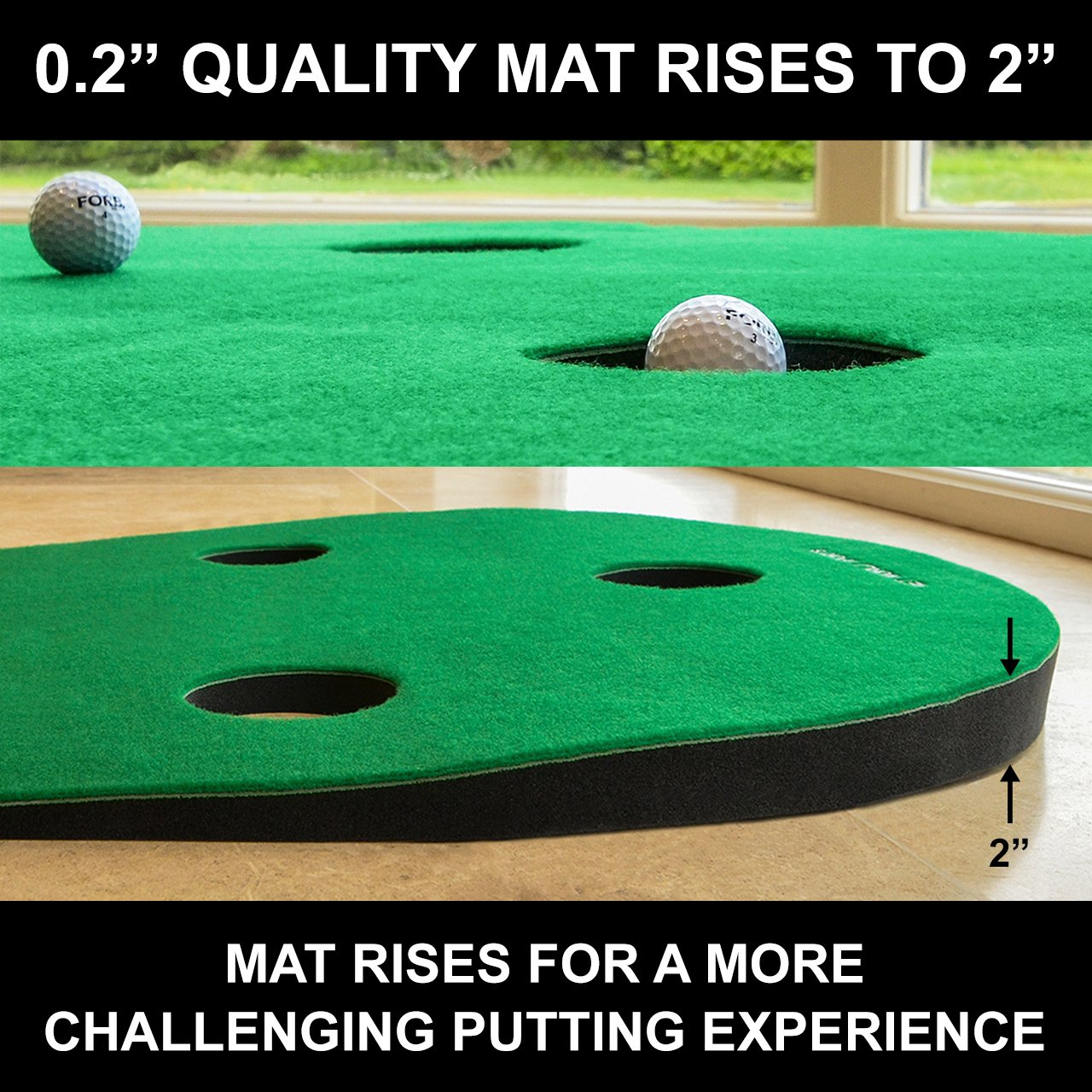FORB Home Golf Putting Mat 10ft Long - Conquer The Green In Your Own Home! [Net World Sports] by FORB (Image #4)